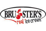 Bruster's Ice Cream logo in Gaithersburg MD, waffle and ice cream cones, ice cream sundae
