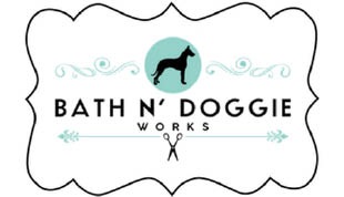 bath N Doggie works logo Dog Grooming near me Dog store