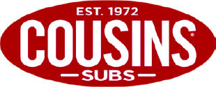 Cousins Subs logo Crown Point, IN