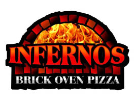 Infernos Brick Oven Pizza in Lacey, WA and Tumwater, WA logo