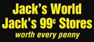 Jacks 99 Cent Store & Jack's World in NYC logo