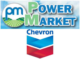 Chevron Power Market on Main Street in Lakeport Logo