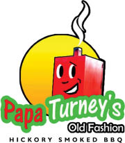 Papa Turney's Old Fashion Hickory Smoked BBQ logo
