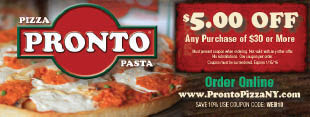 Pronto Pizza Coupons Staten Island