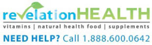 logo for vitamins,supplements, health food from Revelation Health in Allison Park PA