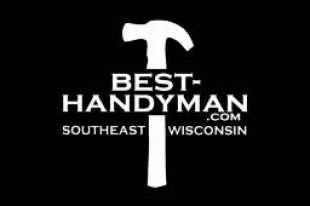 Best Handyman in Milwaukee, WI black and white logo - southeast wisconsin