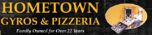 Logo for Hometown Gyros & Pizzeria located in Sauk Village, IL.