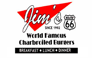 Jim's Burgers in Upland, California logo
