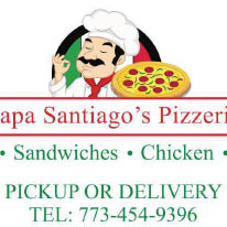 Logo for Papa Santiago's Pizzeria located in Chicago, IL.
