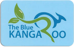 The Blue Kangaroo Café in Barrington, RI logo