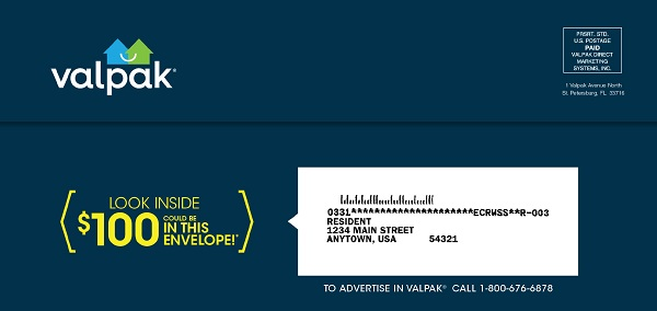 Valpak Mailing List Removal Request